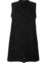 Beaded Embroidery Waistcoat Black