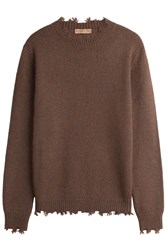 Etro Distressed Cashmere Pullover Brown