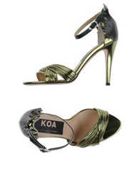 Golden Goose Sandals Military Green