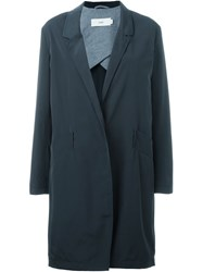 Closed Single Breasted Coat Blue