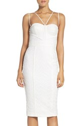 Misha Collection Women's 'Milly' Embroidered Mesh Midi Dress