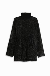 Martin Grant Women S Oversize Lurex Top Boutique1 Black