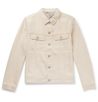 Faherty Home Spun Storm Rider Denim Trucker Jacket Neutrals