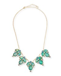 Jules Smith Designs Rhinestone Statement Necklace Blue Jules Smith
