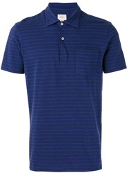 Bellerose Striped Polo Shirt Blue
