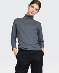 Aspesi 3 4 Sleeve Turtleneck Medium Grey