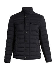 Moncler Faust Quilted Down Jacket Navy