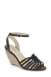Seychelles Top Notch Knotted Wedge Sandal Black