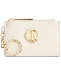 Tommy Hilfiger Lucky Charm Pebble Leather Id Coin Purse Oatmeal