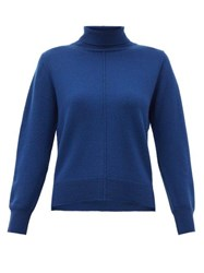 Sea Nora Roll Neck Wool Sweater Blue