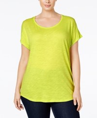Michael Kors Plus Size Weekend Burnout T Shirt Garden Green