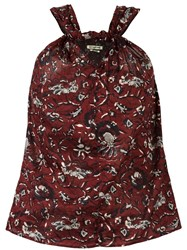 Etoile Isabel Marant 'Acan' Crossover Blouse Red
