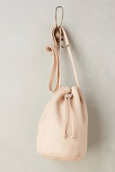 Anthropologie Classic Leather Bucket Bag Pink