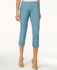 Jag Petite Marion Pull On Skinny Colored Cropped Jeans Nile