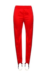 Msgm Athleisure Side Stripe Pants Red