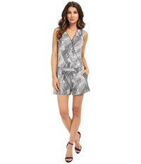 Tart Esme Romper Heather Grey Navy Stripes Women's Jumpsuit And Rompers One Piece Gray
