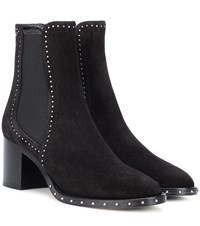 Jimmy Choo Merril 65 Suede Ankle Boots Black
