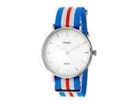 Timex Weekender Fairfield Nylon Slip Thru Strap Orange Blue White Watches