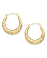 Macy's Swirl Hoop Earrings In 10K Gold