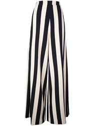 Christian Siriano Striped Flared Trousers Black