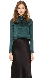 Jason Wu Tie Bar Blouse Evergreen