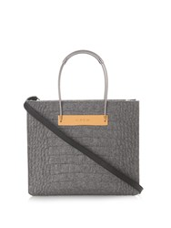 Balenciaga Cable S Crocodile Effect Felt Shopper