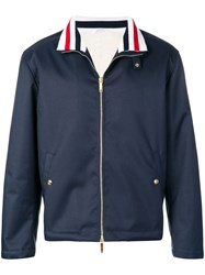 Thom Browne Fur Lined Cordura Jacket Blue