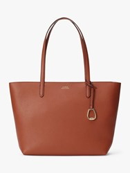 Ralph Lauren Merrimack Large Tote Bag Tan Orange