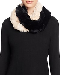 Surell Two Tone Rabbit Fur Infinity Scarf 100 Bloomingdale's Exclusive Beige Black