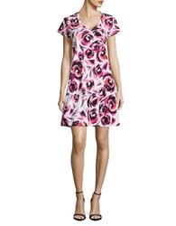 Lord And Taylor Flower Print Nightshirt Pink