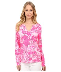 Lilly Pulitzer Kayleigh Top Paradise Pink Rule Breakers Women's Clothing