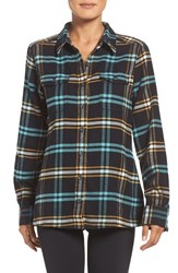 Patagonia Women's 'Fjord' Flannel Shirt Windrow Blac