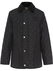 Burberry Diamond Quilted Thermoregulated Barn Jacket Black