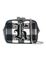 Christopher Kane Gingham 'Box' Crossbody Bag Black