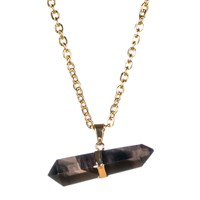 Tiana Jewel Goddess Smokey Necklace Siena Collection Black