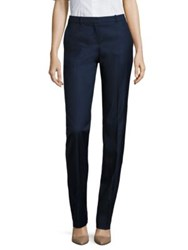 Boss Tamea7 Wool Blend Trousers Navy