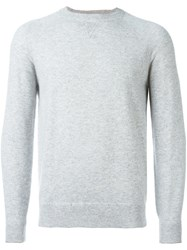 Brunello Cucinelli Crew Neck Jumper Grey