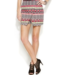 Inc International Concepts Printed Asymmetrical Hem Skort