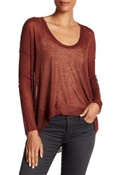 Zadig And Voltaire Preppy Hi Lo Wool Blend Sweater Red