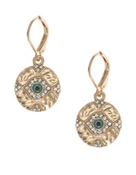 Lonna And Lilly Evil Eye Drop Earrings Gold