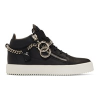 Giuseppe Zanotti Black Chain May London High Top Sneakers