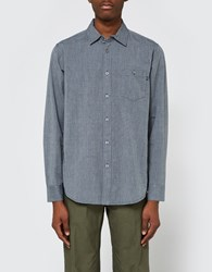 Obey Barton Woven Ls Shirt In Graphite