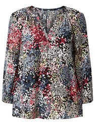 John Lewis Collection Weekend By Confetti Print Top Black Multi