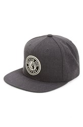 Brixton Men's 'Rival' Snapback Cap Grey Charcoal Heather