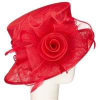 John Lewis Louisa Twisted Flower Occasion Hat Red