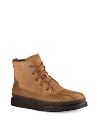 Ugg Fairbanks Leather And Suede Waterproof Boots Chestnut