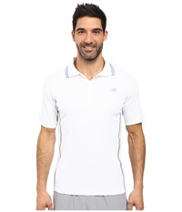 New Balance Tournament Polo White Men's Short Sleeve Knit