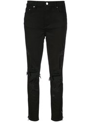 Amiri Distressed Skinny Jeans Black