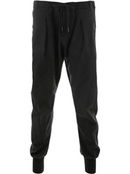 Masnada Jogger Style Trousers Black