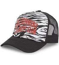 Billionaire Boys Club Camouflage Arch Logo Trucker Baseball Cap White